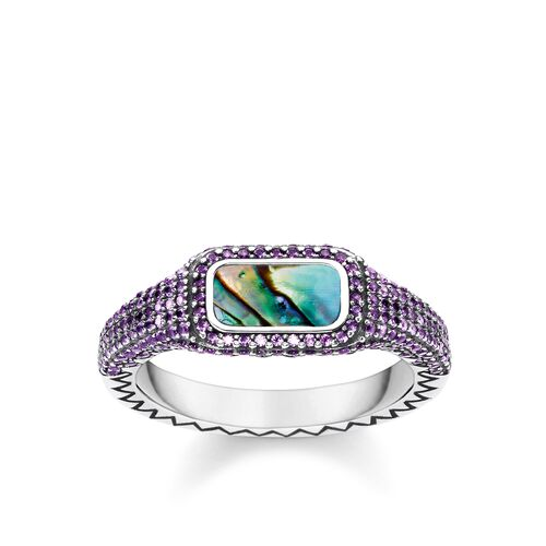 """ring """"Play of colours purple"""" from the Glam & Soul collection in the THOMAS SABO online store"""