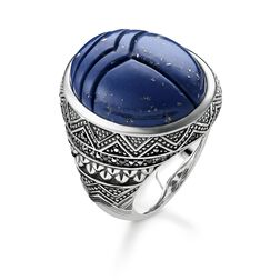 "anello ""scarabeo blu"" from the Rebel at heart collection in the THOMAS SABO online store"