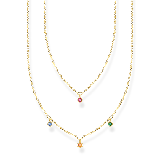 Necklace double colored stones gold from the Charming Collection collection in the THOMAS SABO online store