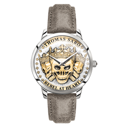 men's watch Rebel Spirit 3D skulls, gold from the  collection in the THOMAS SABO online store