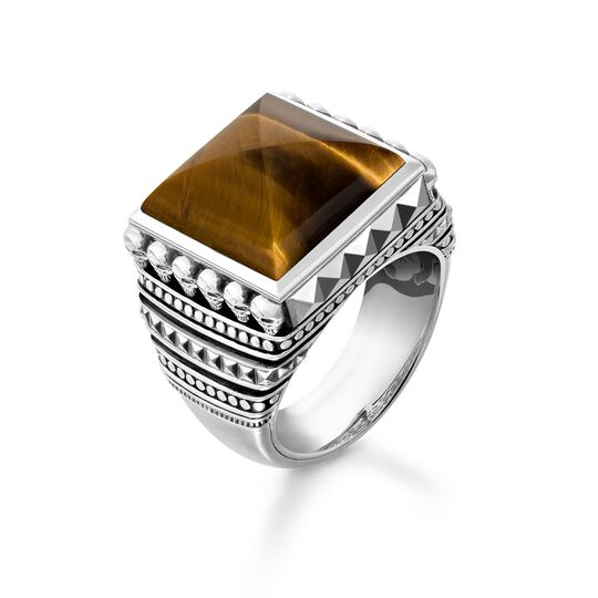 """ring """"Ethnic Skulls Brown"""" from the Rebel at heart collection in the THOMAS SABO online store"""