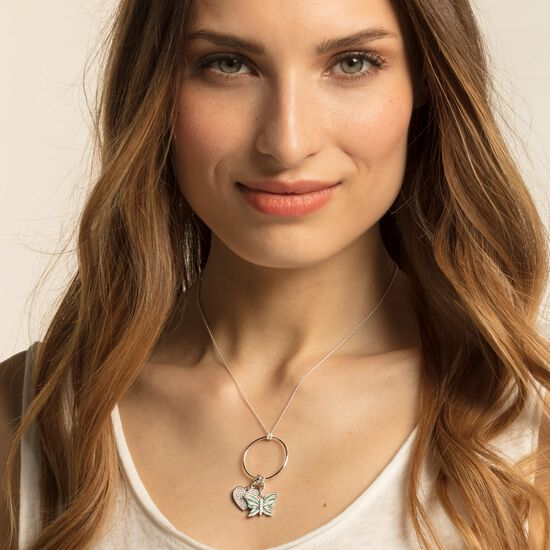 "Charm pendant ""heart pavé"" from the  collection in the THOMAS SABO online store"
