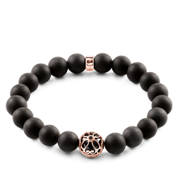"bracelet ""black lotus flower"" from the Glam & Soul collection in the THOMAS SABO online store"