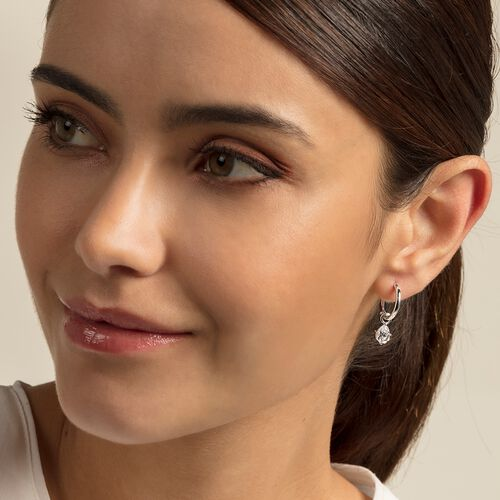"hoop earrings ""droplet"" from the Glam & Soul collection in the THOMAS SABO online store"