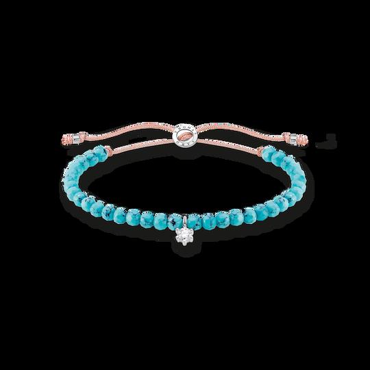 Bracelet perles de turquoise avec pierre blanche de la collection Charming Collection dans la boutique en ligne de THOMAS SABO