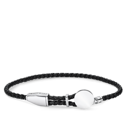 "leather strap ""disc"" from the Rebel at heart collection in the THOMAS SABO online store"