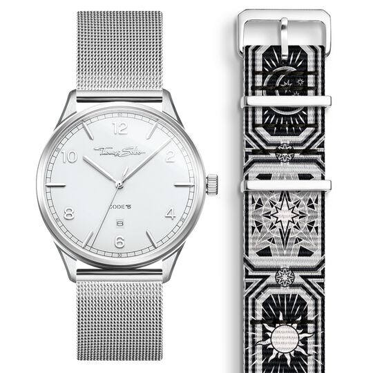 SET CODE TS white watch & bracelet Black night sky from the  collection in the THOMAS SABO online store