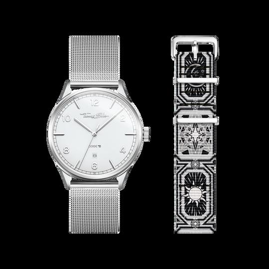 SET CODE TS montre blanche et bracelet ciel nocturne noir de la collection  dans la boutique en ligne de THOMAS SABO