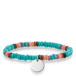"bracciale ""boho turchese"" from the Love Bridge collection in the THOMAS SABO online store"