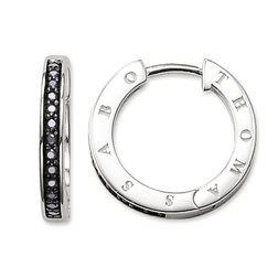 "hoop earrings ""black"" from the Glam & Soul collection in the THOMAS SABO online store"