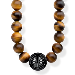 "necklace ""Power Necklace Brown"" from the Glam & Soul collection in the THOMAS SABO online store"
