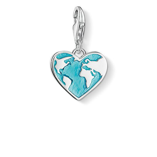 Charm pendant heart globe from the  collection in the THOMAS SABO online store