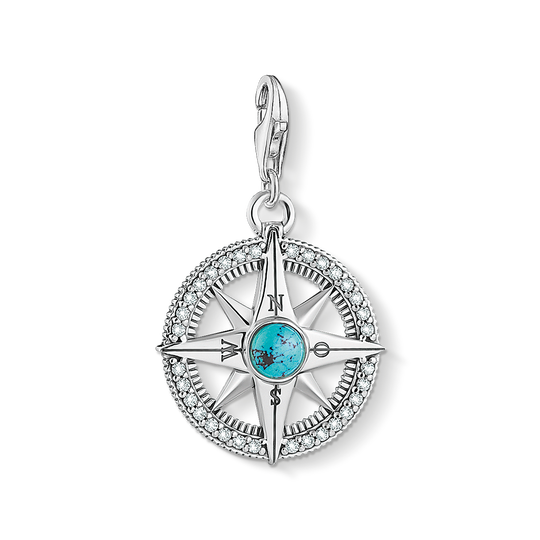 Charm pendant compass turquoise from the Charm Club collection in the THOMAS SABO online store