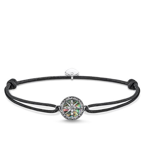 "bracelet ""Little Secret compass abalone mother-of-pearl"" from the Rebel at heart collection in the THOMAS SABO online store"