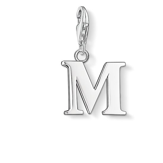 "ciondolo Charm ""lettera M"" from the  collection in the THOMAS SABO online store"