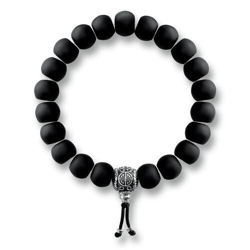 """bracelet """"ethnique Power Bracelet noir"""" de la collection Rebel at heart dans la boutique en ligne de THOMAS SABO"""
