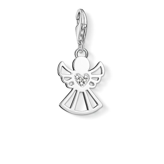 Charm pendant angel with heart from the  collection in the THOMAS SABO online store