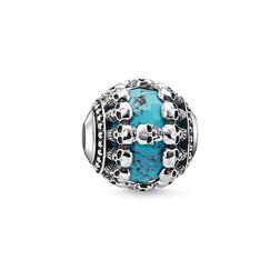 Bead Têtes de mort turquoise de la collection Karma Beads dans la boutique en ligne de THOMAS SABO