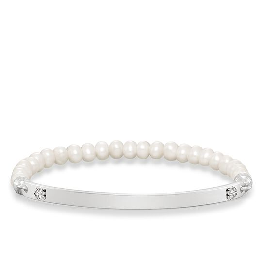 pearl bracelet heart from the Love Bridge collection in the THOMAS SABO online store