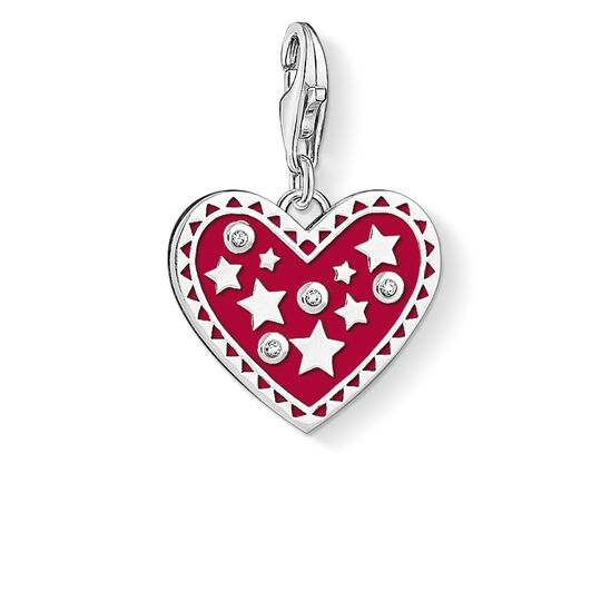 Charm pendant Heart with stars from the  collection in the THOMAS SABO online store