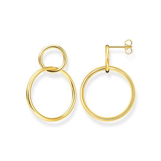 Ohrringe Kreise gold aus der  Kollektion im Online Shop von THOMAS SABO