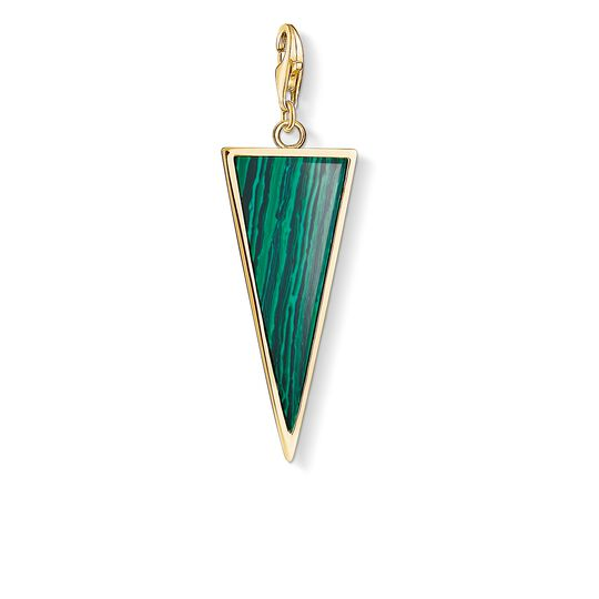 Charm pendant Green triangle from the  collection in the THOMAS SABO online store