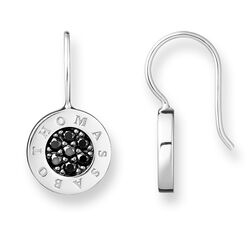 "earrings ""Classic pavé black"" from the Glam & Soul collection in the THOMAS SABO online store"