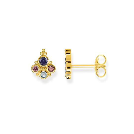 ear studs royalty gold from the Glam & Soul collection in the THOMAS SABO online store
