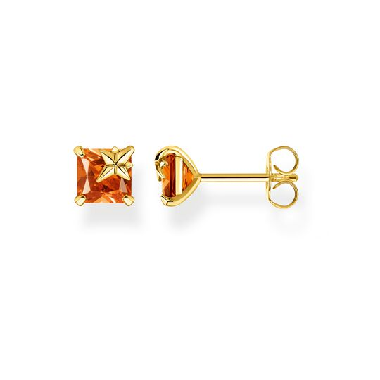 Ear studs orange stone with star from the Glam & Soul collection in the THOMAS SABO online store