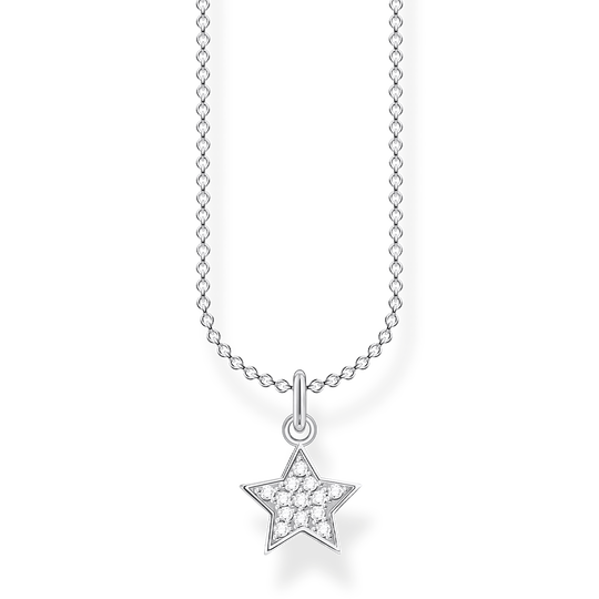 Necklace star pavé silver from the Charming Collection collection in the THOMAS SABO online store
