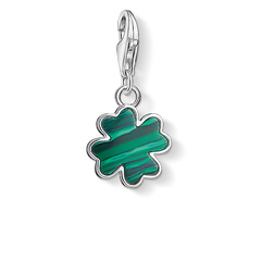 Charm pendant green cloverleaf from the  collection in the THOMAS SABO online store