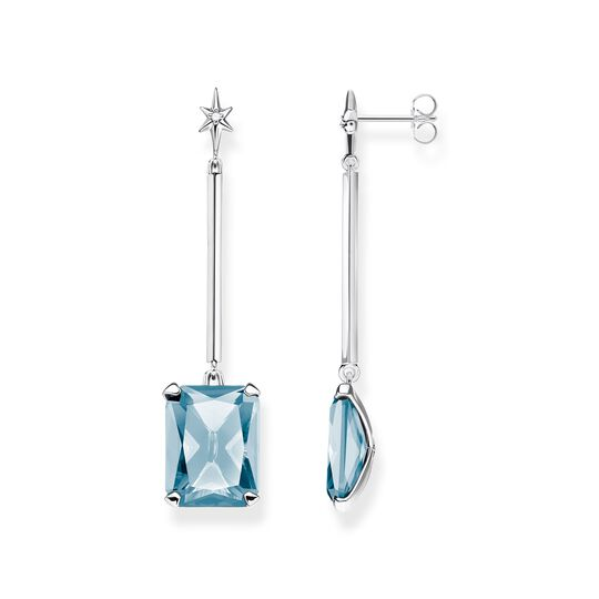 earrings Blue stone with star from the  collection in the THOMAS SABO online store