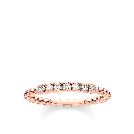 Ring dots with white stones rose gold from the Charming Collection collection in the THOMAS SABO online store