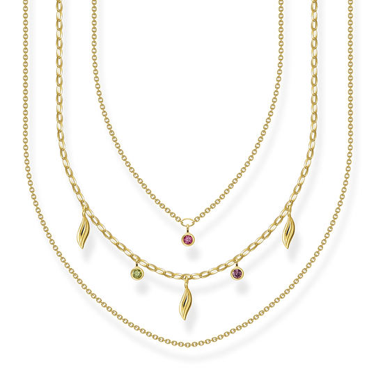 Necklace Layering leaves gold from the Glam & Soul collection in the THOMAS SABO online store