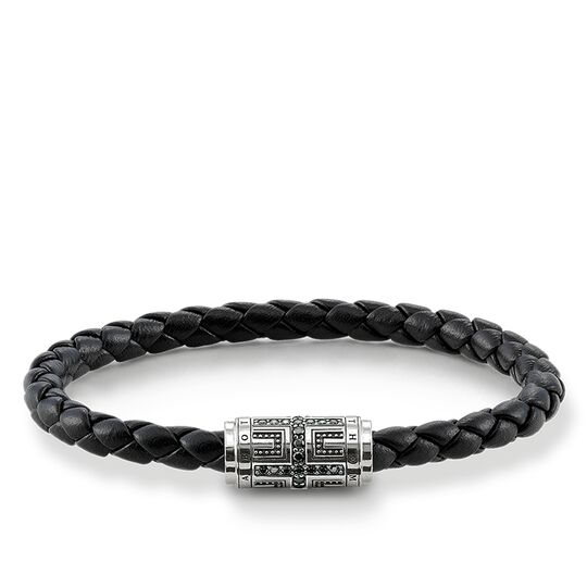 "leather strap ""cross"" from the Rebel at heart collection in the THOMAS SABO online store"