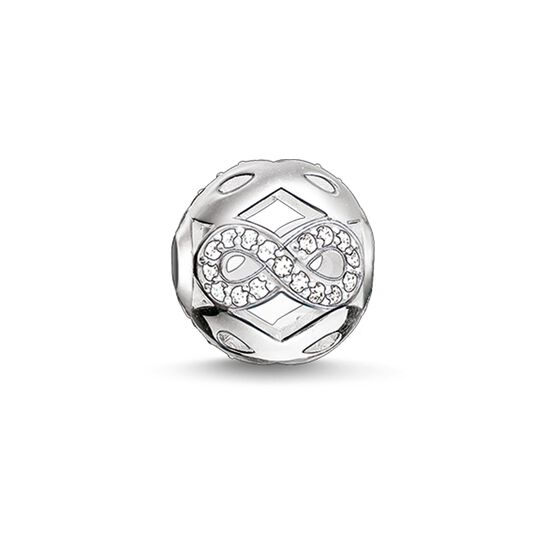 "Bead ""simbolo infinity bianco"" from the Karma Beads collection in the THOMAS SABO online store"