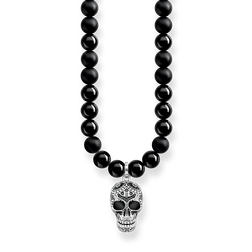 "chaîne ""Power Necklace tête de mort maori pavé"" de la collection Rebel at heart dans la boutique en ligne de THOMAS SABO"