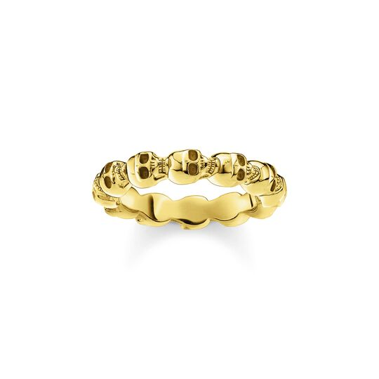 Ring skull gold from the  collection in the THOMAS SABO online store
