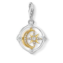 Charm pendant Moveable moon & star from the Charm Club Collection collection in the THOMAS SABO online store