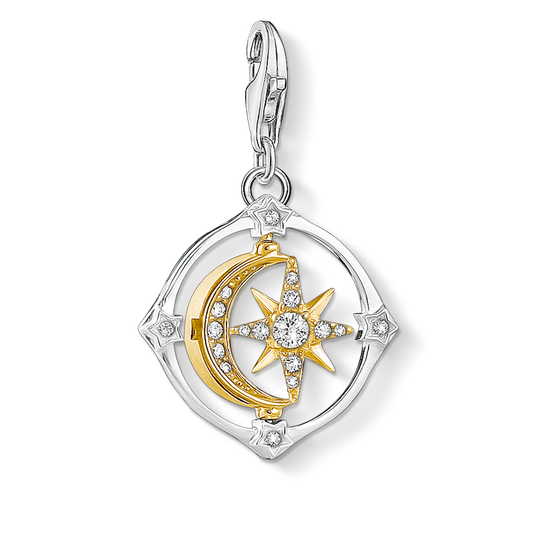 Charm pendant Moveable moon & star from the Charm Club collection in the THOMAS SABO online store