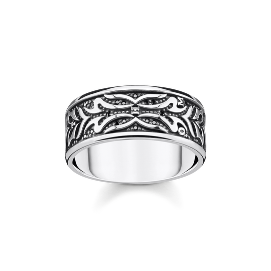 ring black tiger pattern from the Rebel at heart collection in the THOMAS SABO online store