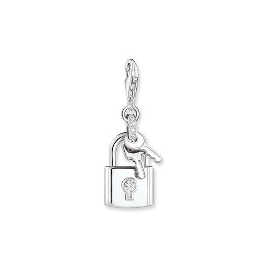 Charm pendant lock with key silver from the Charm Club collection in the THOMAS SABO online store
