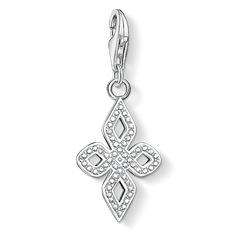 Charm pendant white Love Knot small from the  collection in the THOMAS SABO online store