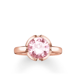 """anello solitario """"Signature Line rosa grande"""" from the Glam & Soul collection in the THOMAS SABO online store"""