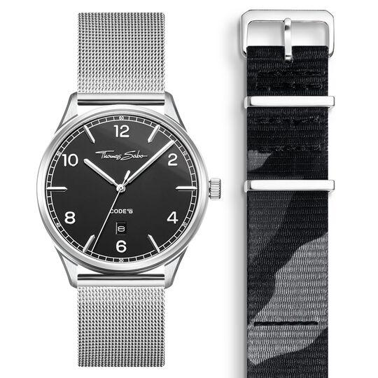 SET CODE TS montre noir et bracelet camouflage de la collection  dans la boutique en ligne de THOMAS SABO