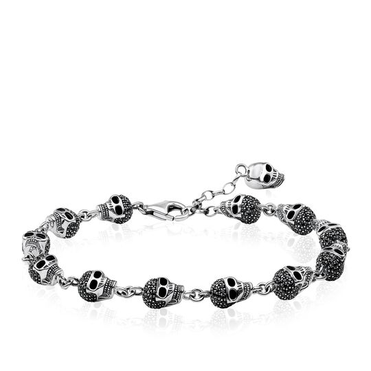 bracelet skulls pavé from the Rebel at heart collection in the THOMAS SABO online store