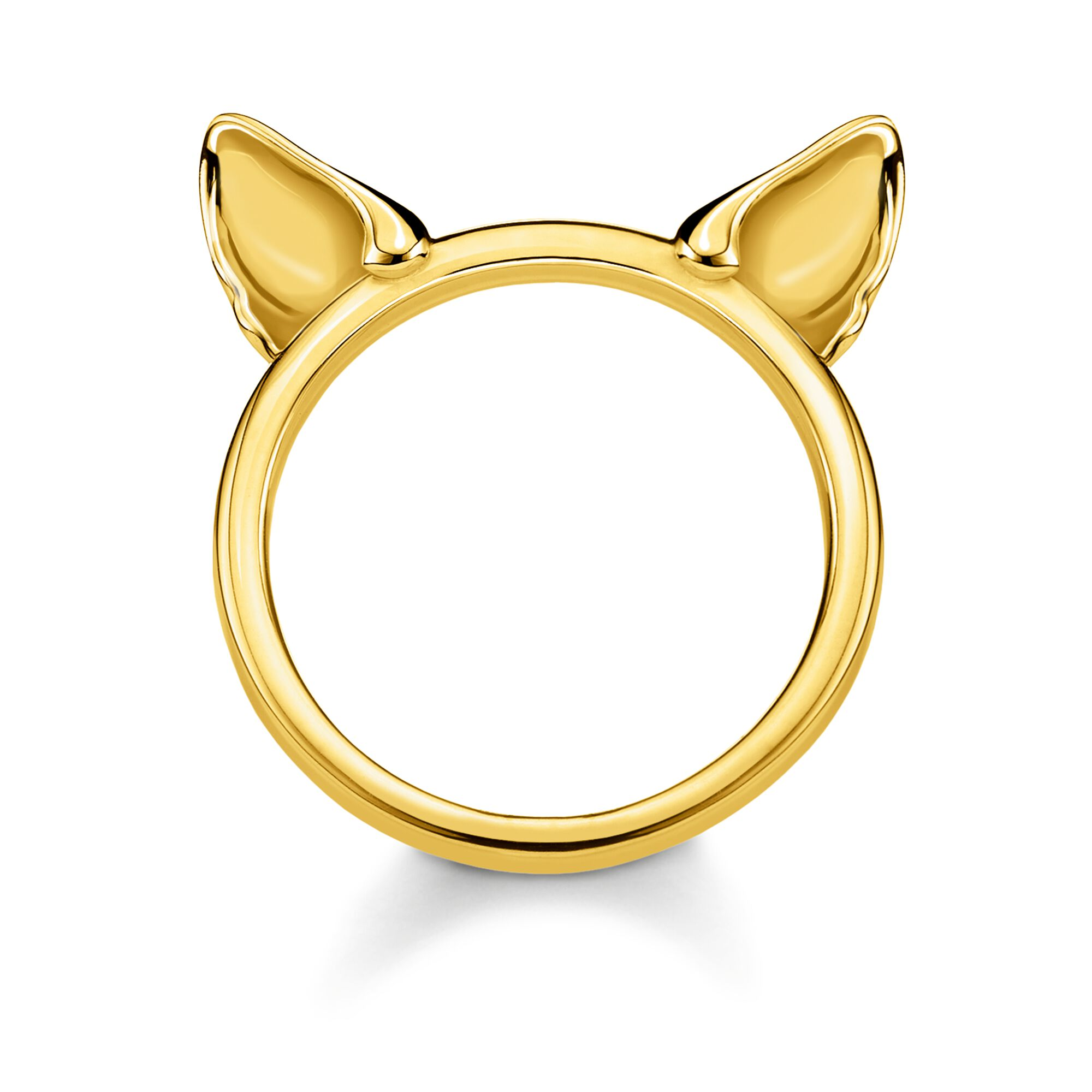 Ring In Kaars.Ring Cat S Ears Gold