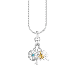 """Charm necklace """"compass & palm tree, sun, plane"""" from the  collection in the THOMAS SABO online store"""