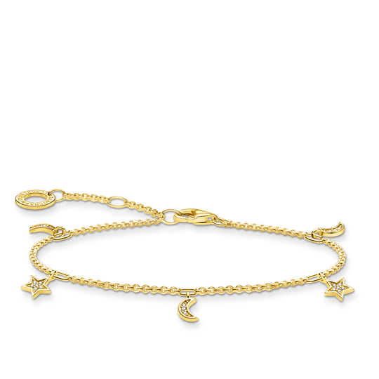 Bracelet étoile & lune or de la collection Charming Collection dans la boutique en ligne de THOMAS SABO