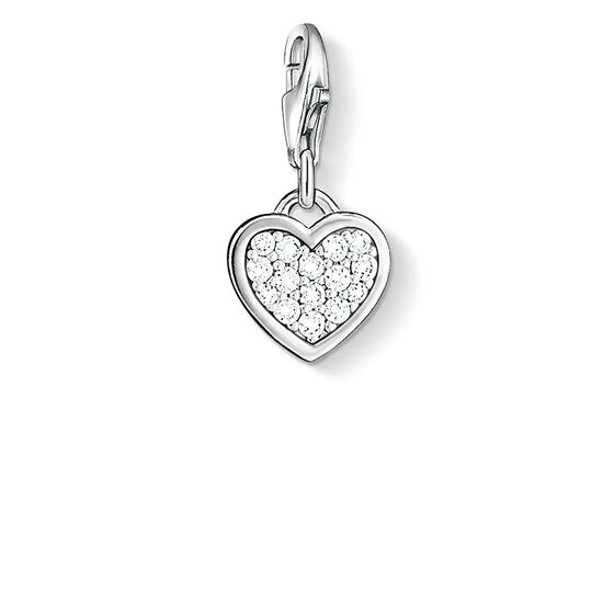 "ciondolo Charm ""cuore luccicante"" from the  collection in the THOMAS SABO online store"